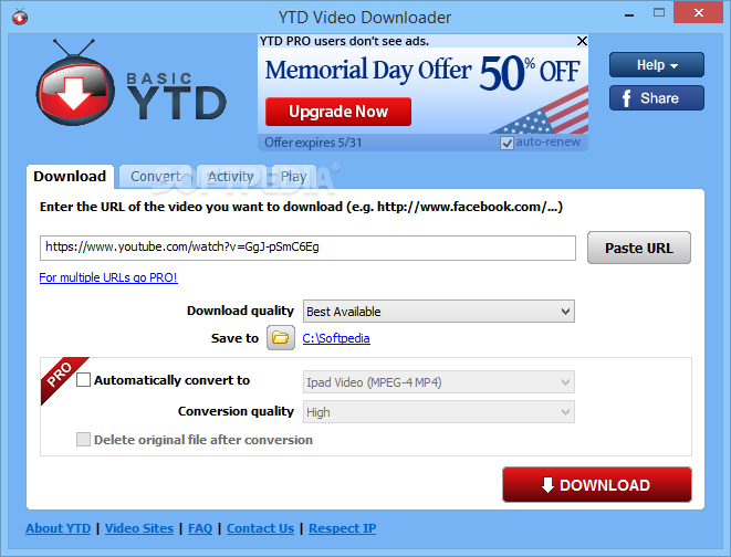 YTD Video Downloader Pro 5.9.18.2 With Crack [Latest] Free Download